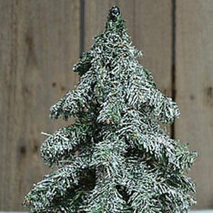 """Snowy Frosted Burlap Base 12"""" Tree"""